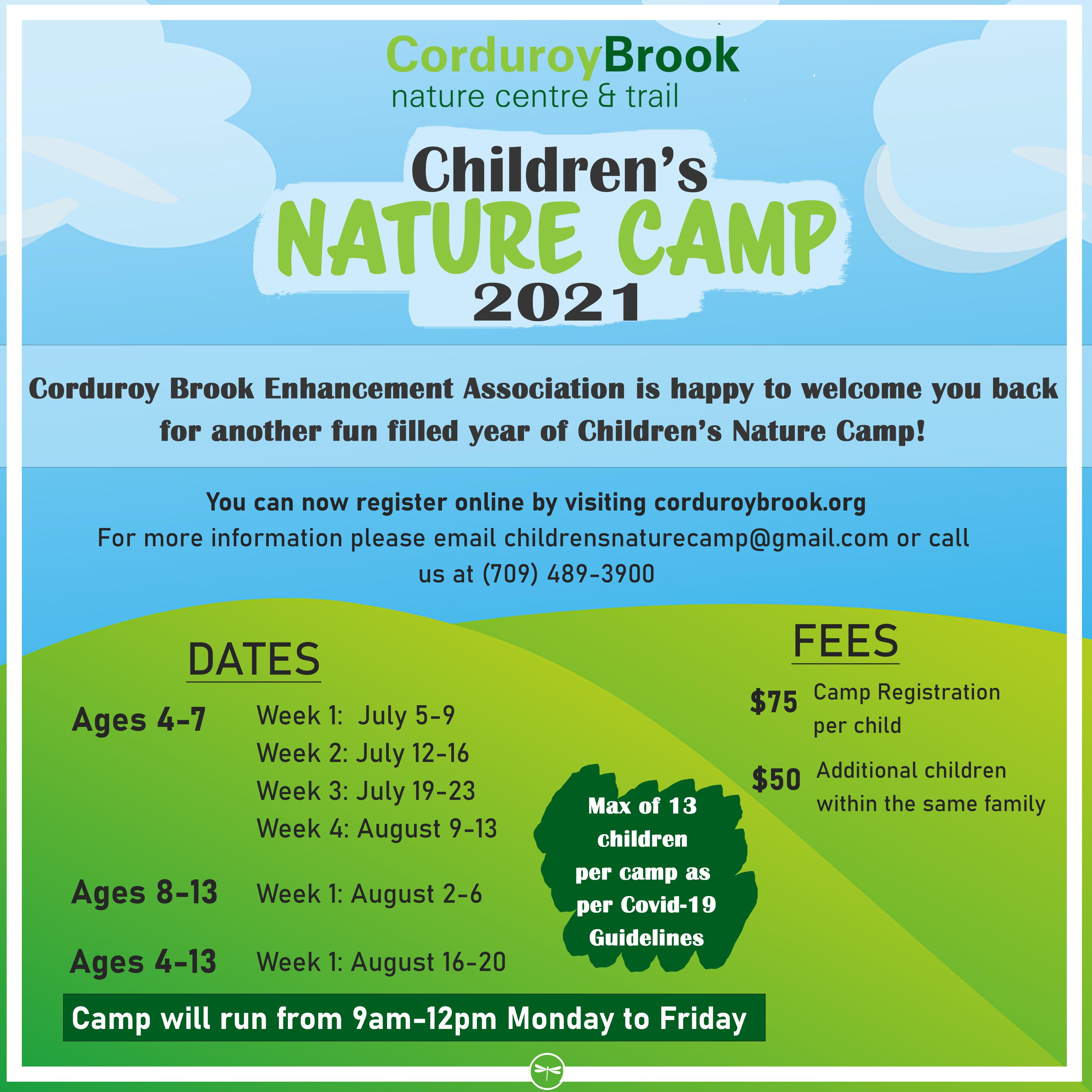 Nature Camp 2021 Registration